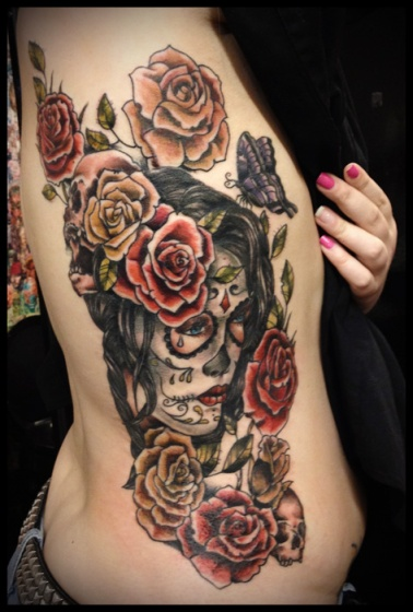 day_of_the_dead_sugar_skull_girl_rib_tattoo_by_calico1225